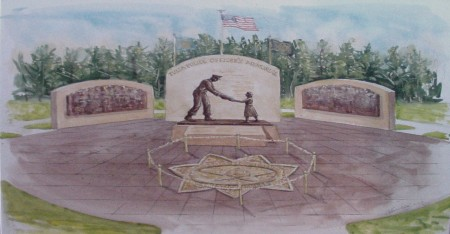 Artist's rendition of the proposed Memorial, which will be located at the Tulsa Police Training Center.
